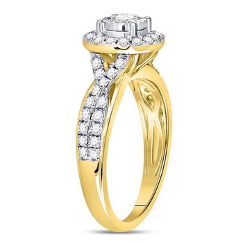 14kt Yellow Gold Womens Round Diamond Solitaire Bridal Wedding Engagement Ring 3/4 Cttw