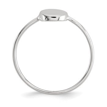 Sterling Silver Polished Circle Ring