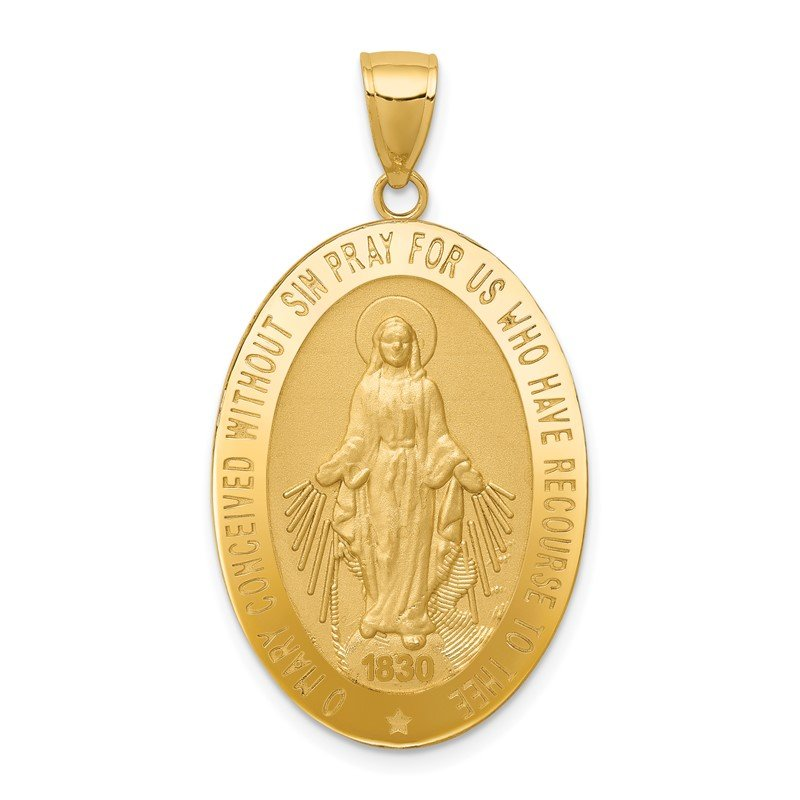 Quality Gold 14k Miraculous Medal Pendant