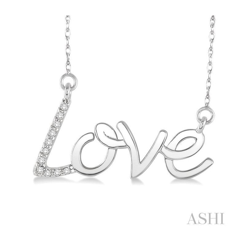 ASHI love diamond pendant