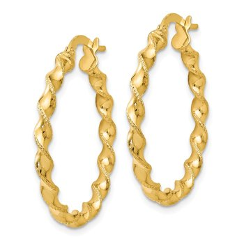 Leslie's 14K Twisted Hoop Earrings
