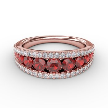 Walk This Way Ruby and Diamond Ring