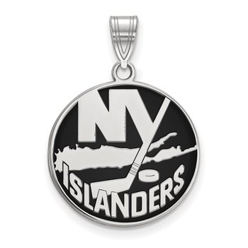 Sterling Silver New York Islanders NHL Pendant