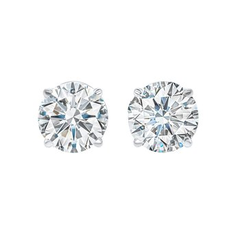 Diamond Stud Earrings in 14K White Gold (2 ct. tw.) I1/I2 - G/H