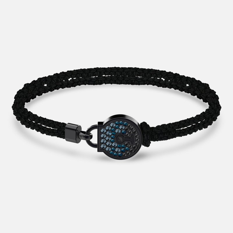 Swarovski Togetherness Lock Bracelet, Black, Black PVD