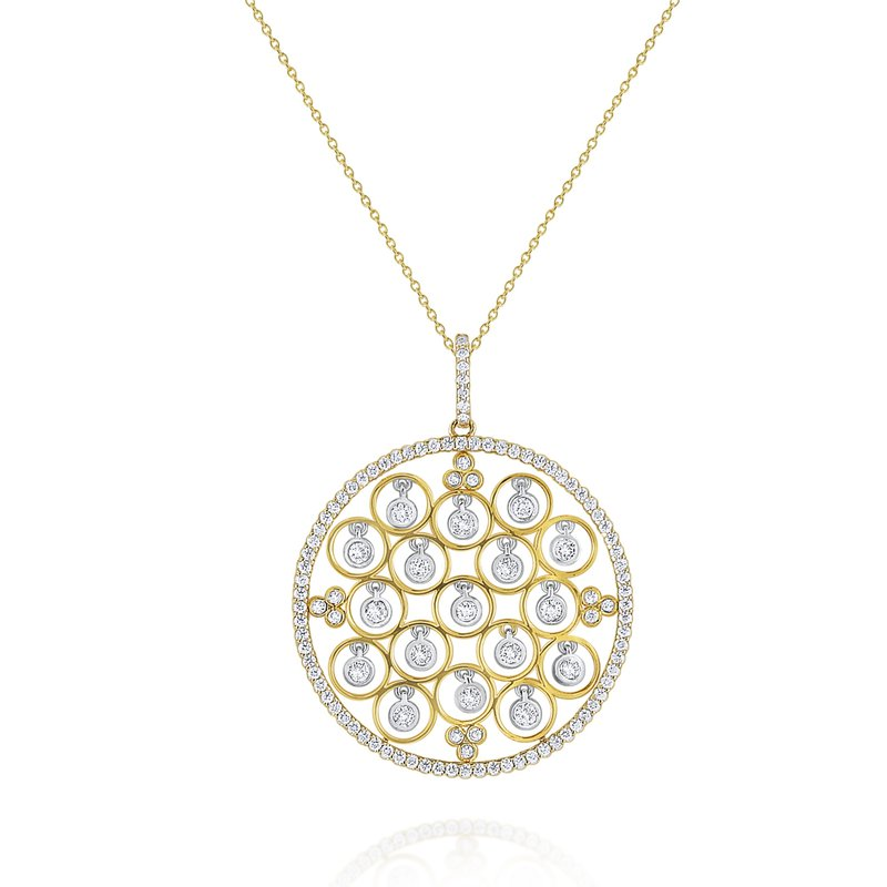 KC Designs 14K Gold and Diamond Open Bezel Necklace