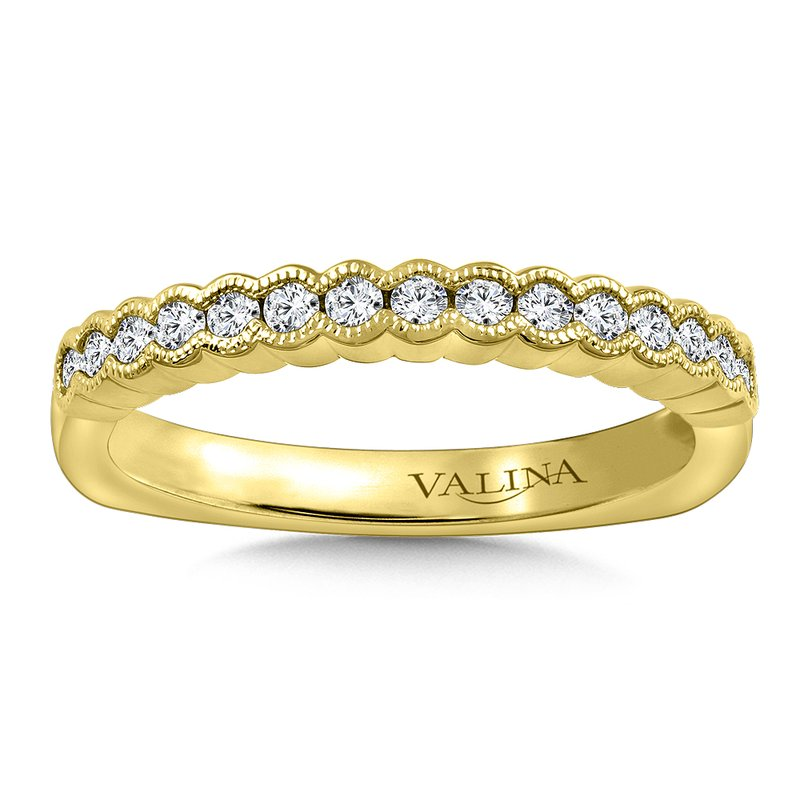 Valina Stackable Wedding Band in 14K Yellow Gold (1/4 ct. tw.)