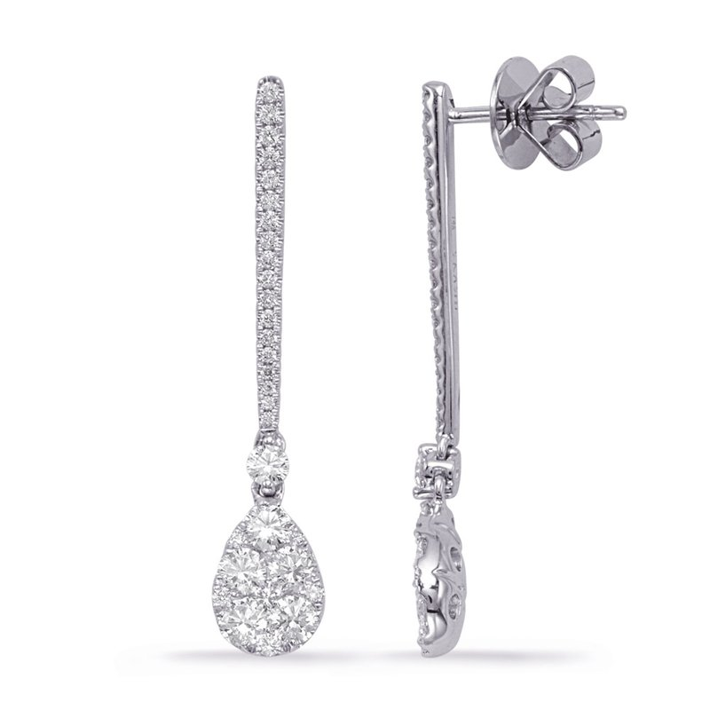 S. Kashi  & Sons White Gold Diamond Fashion Earring