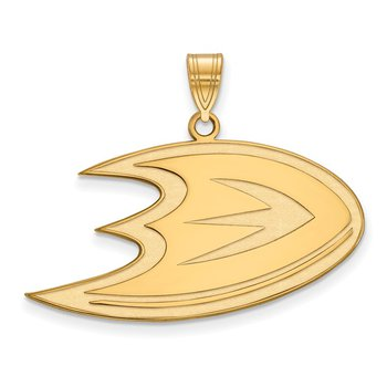 Gold Anaheim Ducks NHL Pendant