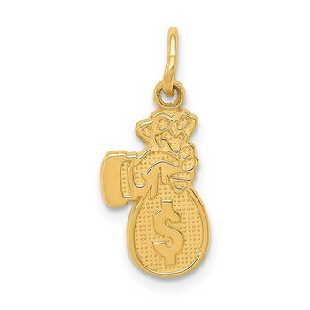 14k Money Bag Charm