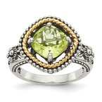 Shey Couture Sterling Silver w/14k Lemon Quartz Ring