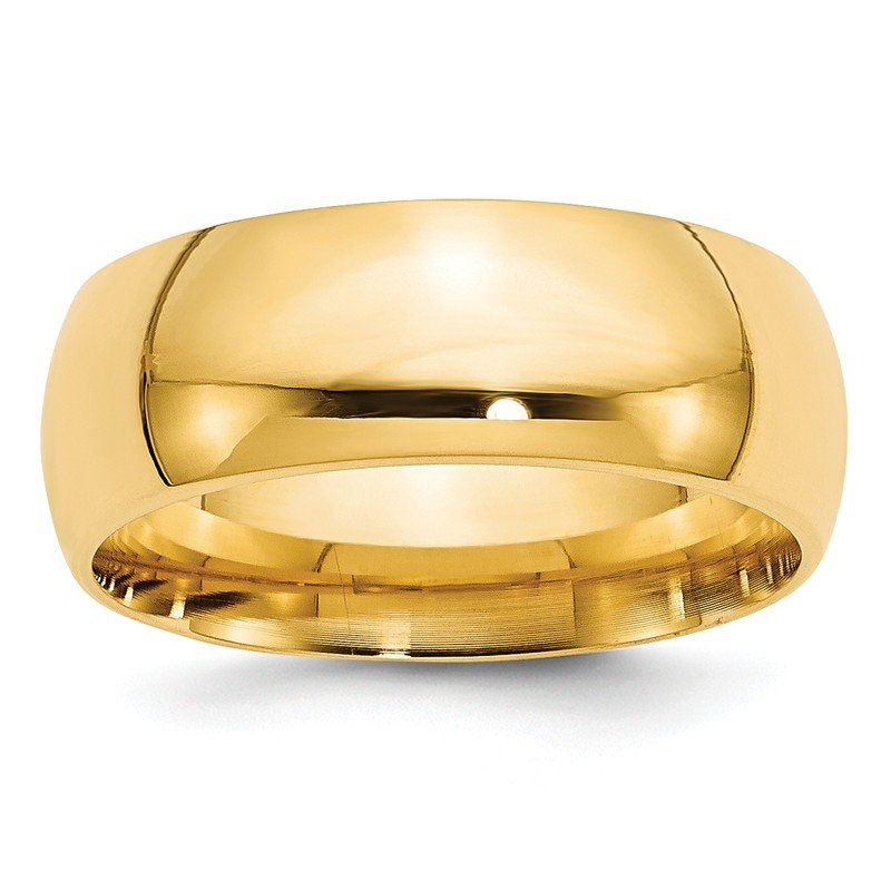 Quality Gold 14k 8mm Comfort-Fit Band