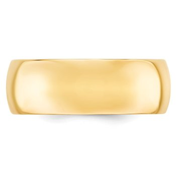 14k 8mm Comfort-Fit Band