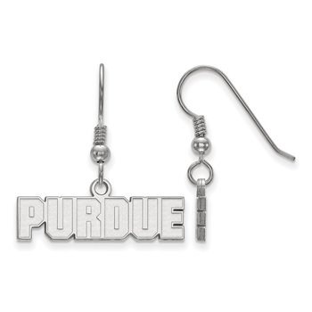 Sterling Silver Purdue University NCAA Earrings