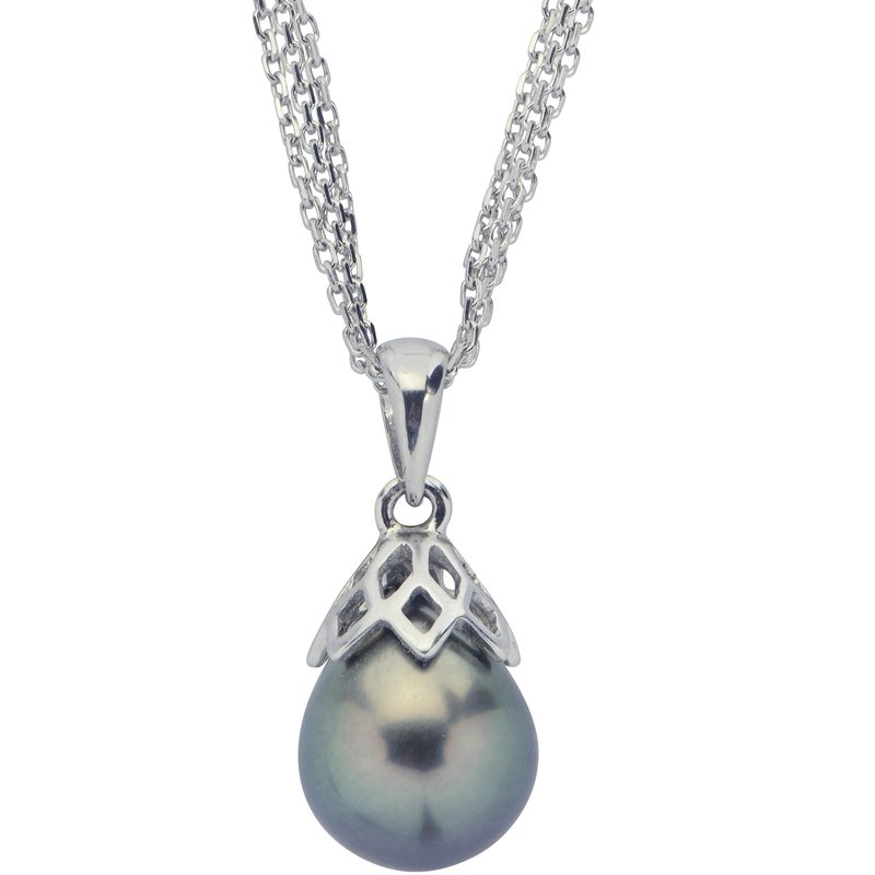 Imperial Pearl Sterling Silver Tahitian Pearl Pendant