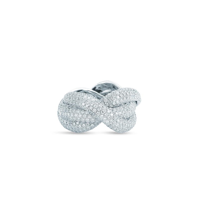 Roberto Coin Twist Ring With Diamonds
