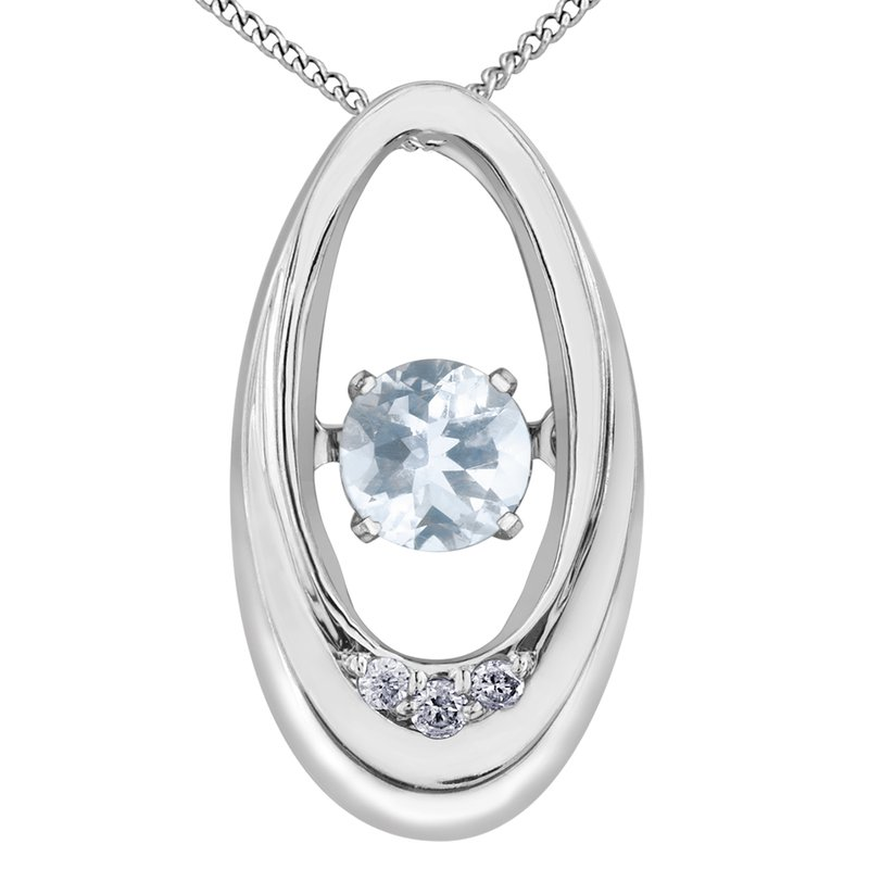 Diamond Wishes Aquamarine Pendant