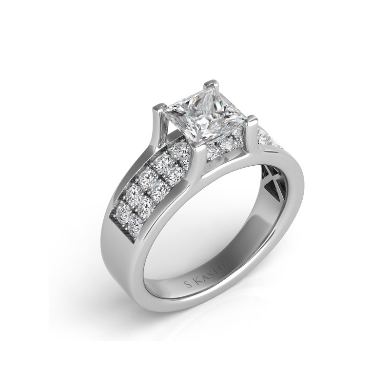 S. Kashi & Sons Bridal Palladium Engagement Ring