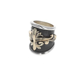 Large Scroll Shield Ring