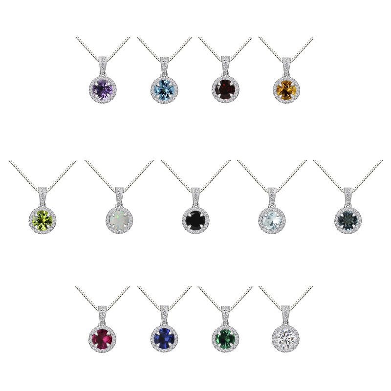 Color Star ROUND HALO PENDANT GROUP