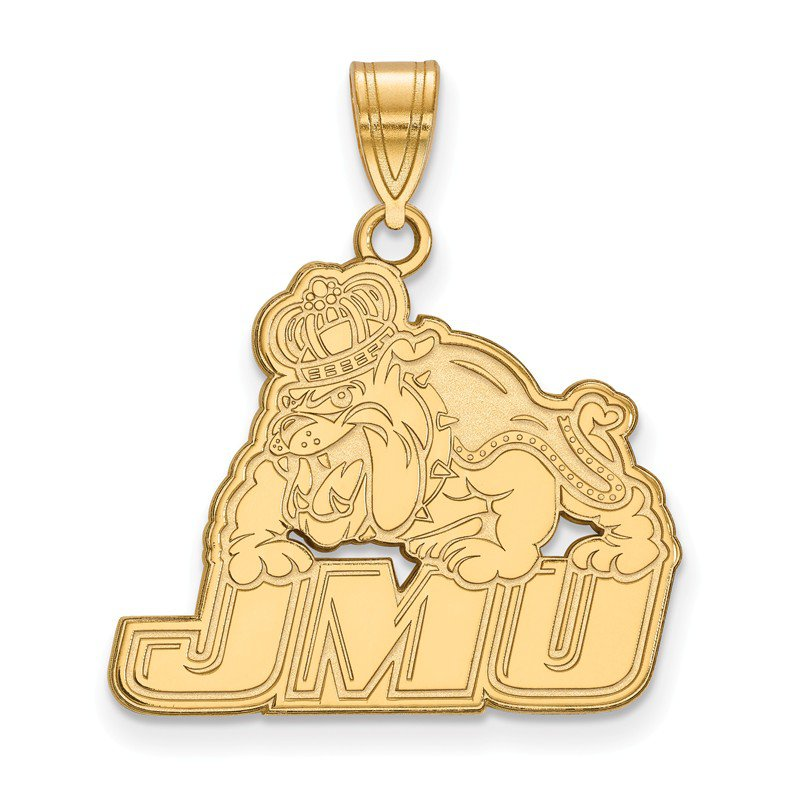NCAA Gold James Madison University NCAA Pendant