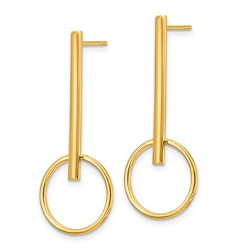 14k Polished Post Dangle Earrings