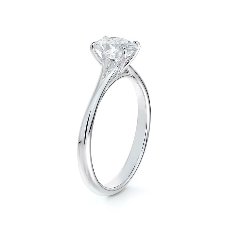 Forevermark Icon Setting Solitaire Oval Diamond Engagement Ring