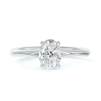 Icon Setting Solitaire Oval Diamond Engagement Ring