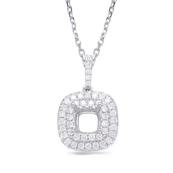 Diamond Pendant 1.75ct Cushion Center