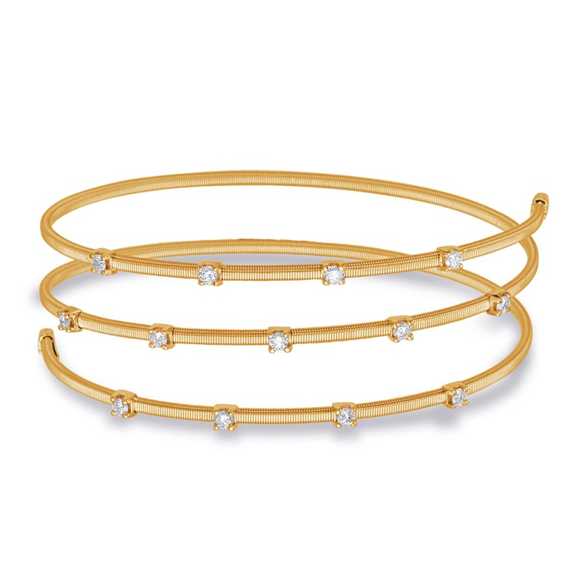 Briana Yellow Gold Bangle Italian Made