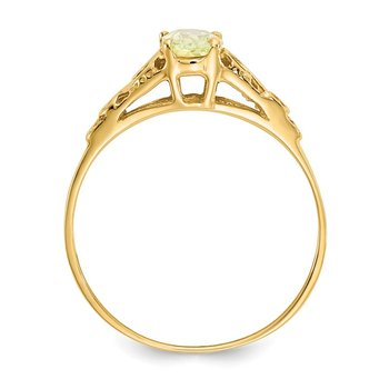 14k Madi K Synthetic Peridot Ring