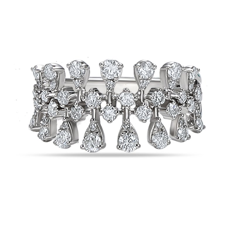 Shula NY 14K Crown ring 45 Diamonds 0.92C
