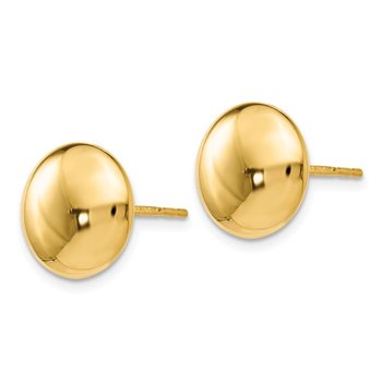 Leslie's 14k Polished Button Post Earrings
