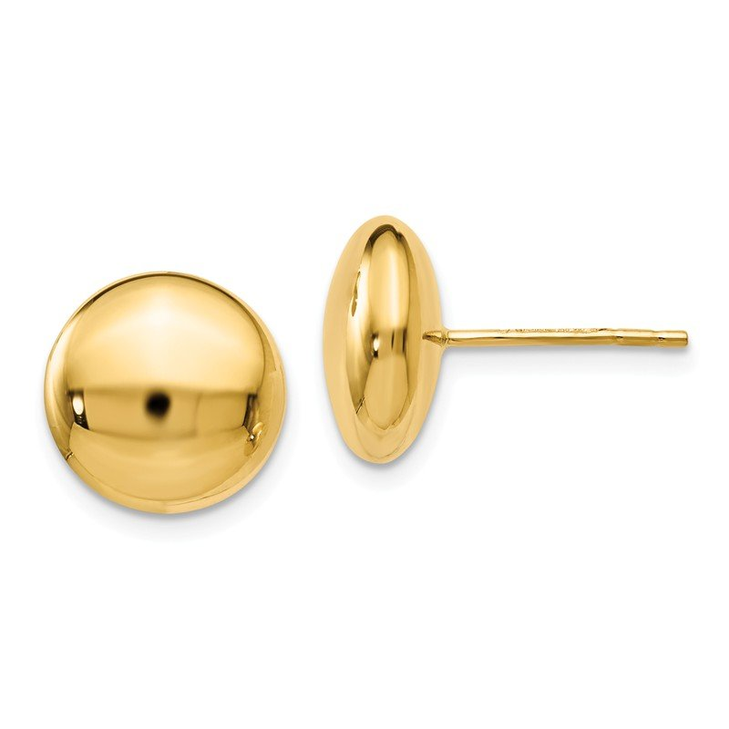 Leslie's Leslie's 14K Polished Button Post Earrings