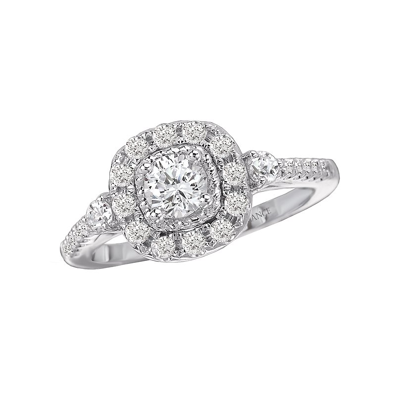 Romance Halo Diamond Ring