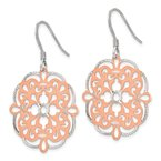 Leslie's Leslie's Sterling Silver Rose-tone 18K Flash-plated Dangle Earrings