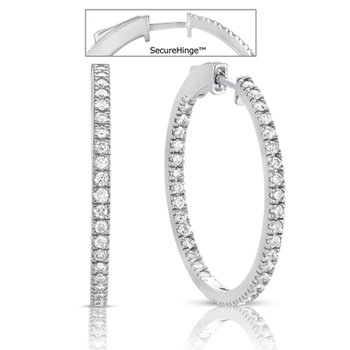 1.25 securehinge Hoop Earring