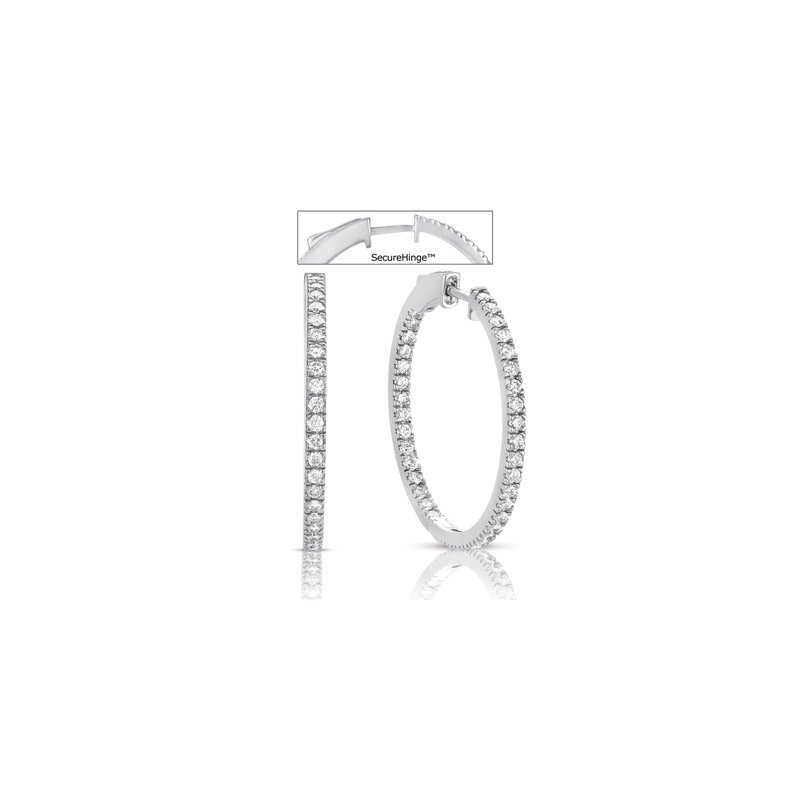 S. Kashi  & Sons 1.25 securehinge Hoop Earring