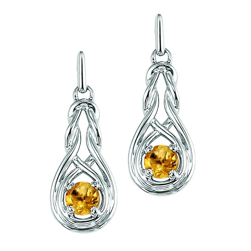 Mixables Silver Citrine Earrings (Available In all BirthStones)