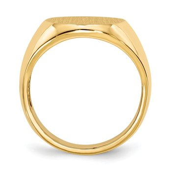 14k 18.5x14.0mm Open Back Men's Signet Ring
