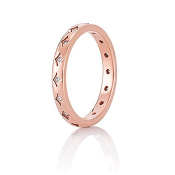 CHAMILIA BLUSH STARRY EYED RING Sw White Zirconia Size 8/P