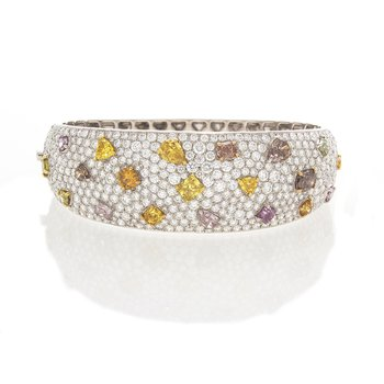 FANCY SHAPES & COLORS DIAMOND BANGLE