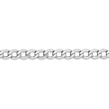 14k WG 5.25mm Semi-Solid Curb Chain
