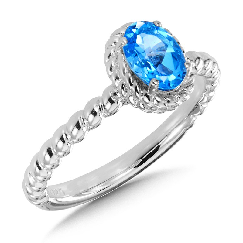 SDC Creations Blue Topaz Ring in Sterling Silver