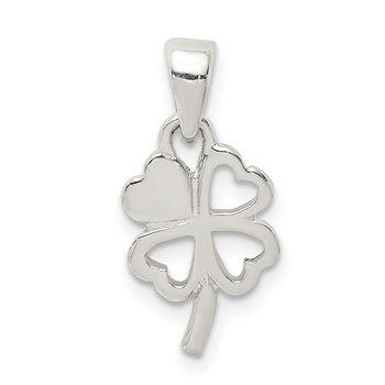 Sterling Silver Polished Clover Pendant