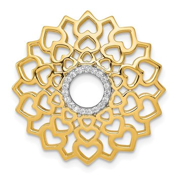 14k 1/20ct. Diamond Sahasrara/Crown Chakra Chain Slide