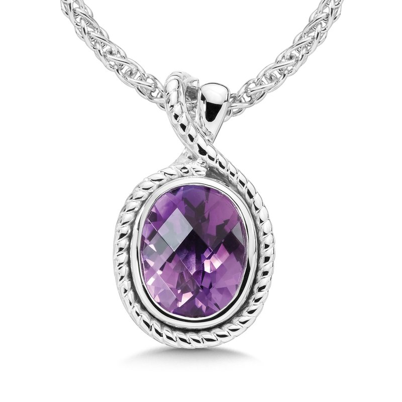 Sterling Silver & Amethyst Pendant