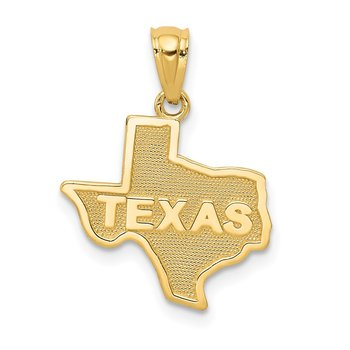 14k State of TEXAS Map Pendant
