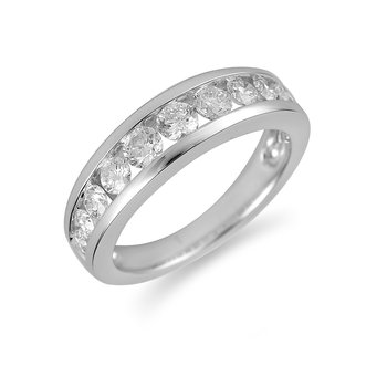 14K WG Diamond Wedding Band