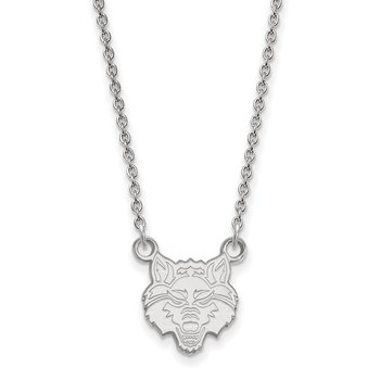 Sterling Silver Arkansas State University NCAA Necklace